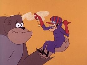 Screenshots from the 1968 Hanna-Barbera cartoon Real Gone Ape