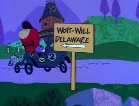 Screenshots from the 1968 Hanna-Barbera cartoon Dash to Delaware