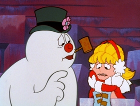 Screenshots from the 1969 Rankin/Bass cartoon Frosty the Snowman