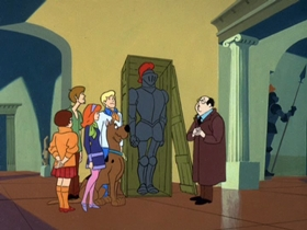 Screenshots from the 1969 Hanna-Barbera cartoon What a Night for a Knight
