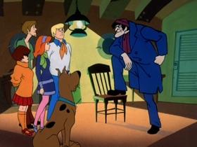 Screenshots from the 1969 Hanna-Barbera cartoon A Clue for Scooby-Doo