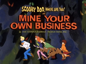 Screenshots from the 1969 Hanna-Barbera cartoon Mine Your Own Business