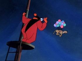 Screenshots from the 1969 Hanna-Barbera cartoon Bedlam in the Big Top