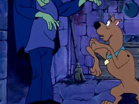 Screenshots from the 1969 Hanna-Barbera cartoon A Gaggle of Galloping Ghosts