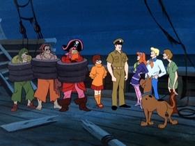 Screenshots from the 1969 Hanna-Barbera cartoon Go Away Ghost Ship