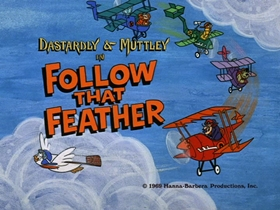 Screenshots from the 1969 Hanna-Barbera cartoon Follow That Feather