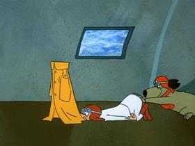 Screenshots from the 1969 Hanna-Barbera cartoon Operation Anvil