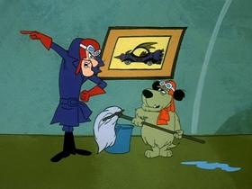 Screenshots from the 1969 Hanna-Barbera cartoon Muttley On The Bounty