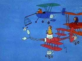 Screenshots from the 1969 Hanna-Barbera cartoon Fur Out Furlough