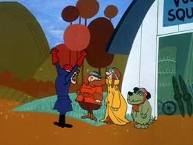 Screenshots from the 1969 Hanna-Barbera cartoon Sappy Birthday