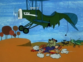 Screenshots from the 1969 Hanna-Barbera cartoon Stop That Pigeon