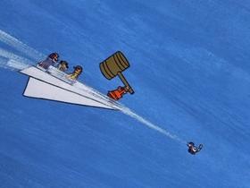 Screenshots from the 1969 Hanna-Barbera cartoon Pest Pilots