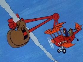 Screenshots from the 1969 Hanna-Barbera cartoon Eagle-Beagle