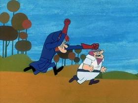Screenshots from the 1969 Hanna-Barbera cartoon Camouflage Hop-Aroo