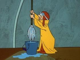 Screenshots from the 1969 Hanna-Barbera cartoon Hot Soup