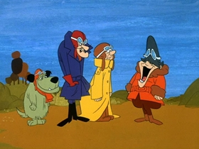 Screenshots from the 1969 Hanna-Barbera cartoon Barn Dance