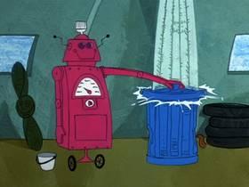 Screenshots from the 1969 Hanna-Barbera cartoon Robot