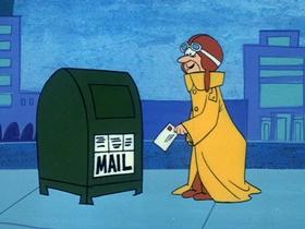 Screenshots from the 1969 Hanna-Barbera cartoon Airmail