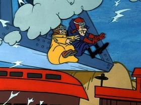 Screenshots from the 1969 Hanna-Barbera cartoon Fast Freight