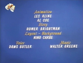 Screenshots from the 1969 Walter Lantz cartoon Project Reject