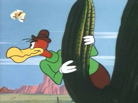 Screenshots from the 1969 Walter Lantz cartoon Tumbleweed Greed