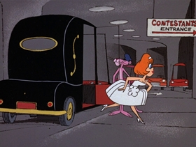 Screenshots from the 1969 DePatie Freleng cartoon Pink-A-Rella
