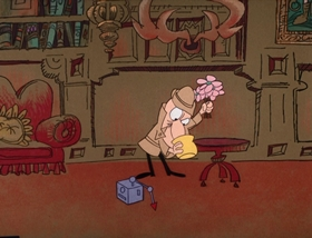 Screenshots from the 1969 DePatie Freleng cartoon French Freud