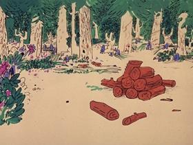 Screenshots from the 1969 DePatie Freleng cartoon Pink Pest Control