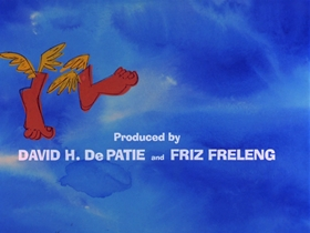 Screenshots from the 1969 DePatie Freleng cartoon Flying Feet