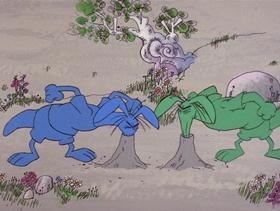 Screenshots from the 1969 DePatie Freleng cartoon I