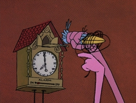 Screenshots from the 1969 DePatie Freleng cartoon In the Pink of the Night