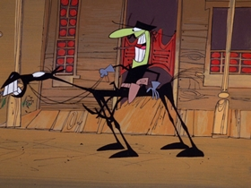 Screenshots from the 1969 DePatie Freleng cartoon The Deadwood Thunderball