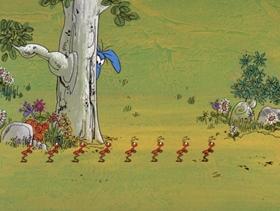 Screenshots from the 1969 DePatie Freleng cartoon Technology, Phooey