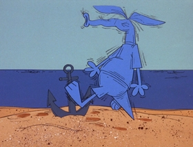 Screenshots from the 1969 DePatie Freleng cartoon Dune Bug