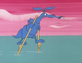 Screenshots from the 1969 DePatie Freleng cartoon Isle of Caprice