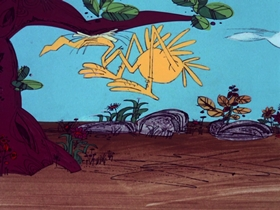 Screenshots from the 1969 DePatie Freleng cartoon Go For Croak