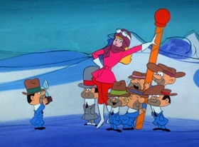 Screenshots from the 1969 Hanna-Barbera cartoon North Pole Peril