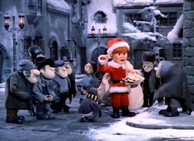 Screenshots from the 1970 Rankin/Bass cartoon Santa Claus Is Comin