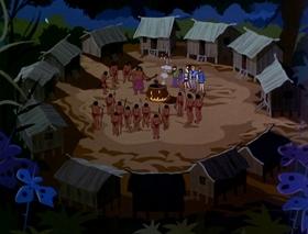 Screenshots from the 1970 Hanna-Barbera cartoon A Greenthumb Is Not a Goldfinger