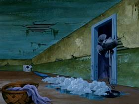Screenshots from the 1970 Hanna-Barbera cartoon A Night of Fright is No Delight