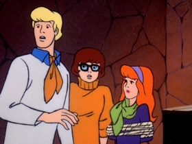 Screenshots from the 1970 Hanna-Barbera cartoon Mystery Mask Mix-Up