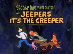 Screenshots from the 1970 Hanna-Barbera cartoon Jeepers, It