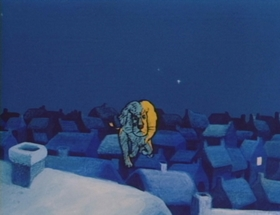 Screenshots from the 1970 Mushi Production cartoon The Kindly Lion