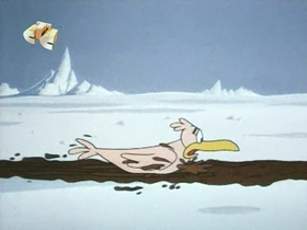 Screenshots from the 1970 Walter Lantz cartoon Gooney