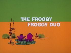 Screenshots from the 1970 DePatie Freleng cartoon The Froggy Froggy Duo