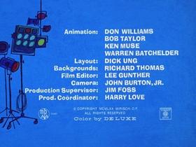 Screenshots from the 1970 DePatie Freleng cartoon Say Cheese, Please