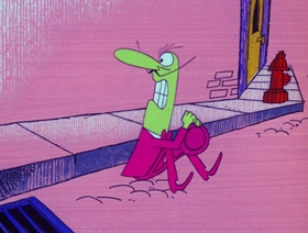 Screenshots from the 1970 DePatie Freleng cartoon The Foul Kin