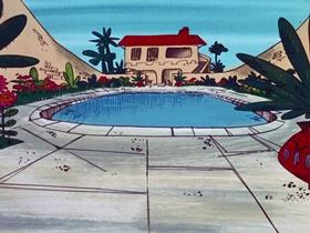 Screenshots from the 1970 DePatie Freleng cartoon Never on Thirsty
