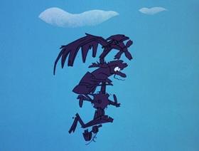 Screenshots from the 1970 DePatie Freleng cartoon War and Pieces