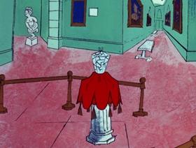 Screenshots from the 1970 DePatie Freleng cartoon Gem Dandy